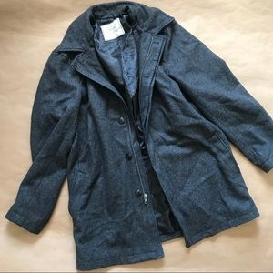 Dark gray men's coat